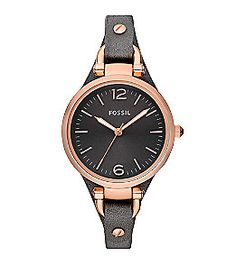 Product: Fossil® Women's Gray Georgia Leather Watch