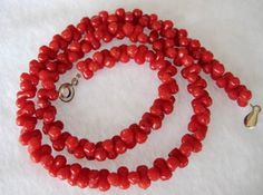 "17"" 7-8mm red coral necklace"