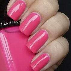 Illamasqua Nail Varnish in Collide  I'm currently wearing it on my toes, and let me tell you, the photo does not do it justice!  It's a really bright pop of neon pink.  Love it!