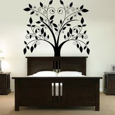 beautiful tree wall art - Bing Images  Possible large wall art painting inspo