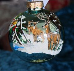 Hand painted Christmas ornament holiday by reneesprettypainted, $17.95