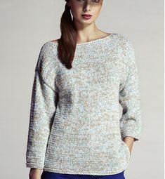 Dit model trui breide mijn moeder in verschillende kleuren en soorten wol.