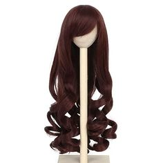 Amazon.com : Miss U Hair 8-9 Inch 1/3 BJD Doll Wig MSD DOD Pullip Dollfie Long Kinky Curly Hair Not for Human (Center Part Orange) : Beauty Kinky Curly Hair, Curly Wigs, Curly Hair Styles, Doll Wigs, Bjd Dolls, Center Part, Hair Stores, Smart Doll, Doll Head