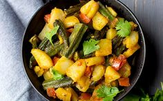 <p>This curry is full of tender potatoes, perfectly cooked okra, and a perfumed blend of Indian spices. It's the perfect hearty meal if you are strapped for time.</p>