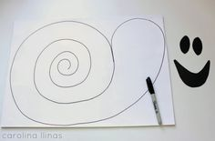 FANTASMAS en espiral, practicando el uso de las tijeras | #Artividades