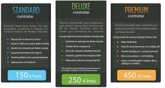 Tarifas Social Media Más info en http://www.cibermarketing.es Promoción Plan Standar 1 mes GRATIS.