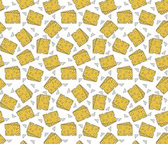 cheese // novelty food fabric print for craft projects  fabric by andrea_lauren on Spoonflower - custom fabric