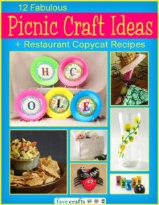 Make Your Next Picnic a DIY Affair With Crafts & @AllFreeCopycatRecipe fun craft, free craft, feel crafti, craft ebook, picnic