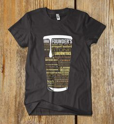 CUSTOM printed Craft Beer Typography t shirt by REJECTCONVENTION, $15.99