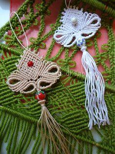 il macramè di sabrina: Nuova nappa margarete con fuseruola Macrame, Crochet Earrings
