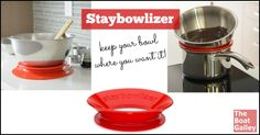 Wondering how to keep your bowl from sliding off the counter when underway or in a bouncy anchorage? Ever wished you had a third hand as you're trying to hold a bowl, get ingredients and steady yourself?  This nifty tool eliminates the need to hold the bowl!