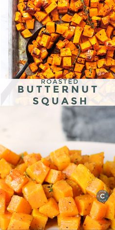 Easy and healthy Roasted Butternut Squash recipe for a simple and tasty side dish the whole family will love Side Dish Recipes, Vegetable Recipes, Vegetarian Recipes, Chicken And Butternut Squash, Butter Ut Squash Recipes, Seasoning For Butternut Squash, Butternut Squash Sweet Potato Recipes, Healthy Butternut Squash Recipes, Baked Squash Recipes