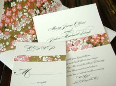 Asian Wedding Invitation with Cherry Blossoms and by tuccipaperco, $4.75