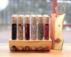 Test Tube Spice Rack in Aromatic Cedar by TheTubularSpiceCo, $74.99