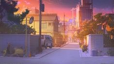 Credit to the owner! Anime Backgrounds Wallpapers, Anime Scenery Wallpaper, Cute Backgrounds, Aesthetic Backgrounds, Cute Wallpapers, Scenery Background, Landscape Background, Animation Background, Zoom Wallpaper