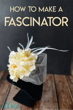 How to make a Fascinator hat with feathers, veiling, and silk flowers. It's the perfect accessory for a tea party, or even for a wedding. Wedding Headband, Wedding Fascinators, Wedding Hats, How To Make Fascinators, Diy Wedding, Royal Blue Fascinator, White Fascinator, Sombreros Fascinator, Fascinator Headband