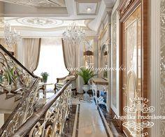 Интерьер загородного дома в классическом стиле в КП «Павлово» - фото