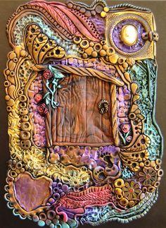 Enchanted Fairy Door Journal, Spiral Notebook - Polymer Clay Design. $55.00, via Etsy.