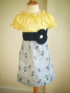 Aviary Scetch Book dress 18 mos  4T by ashleylynneclothing on Etsy, $42.00