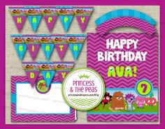 Moshi Monsters Party Printables  #moshimonsterspartyideas #moshimonstersprintables #moshimonsters