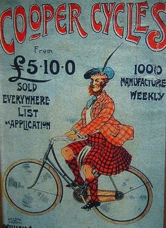 ... Framed Vintage Bicycle Poster