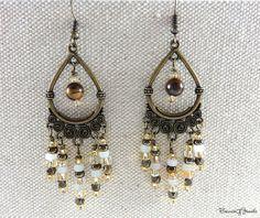 Chandelier Earrings  Dangle Earrings  Beaded by BonnieGJewels, $25.00