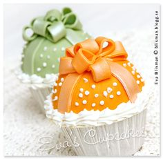 B L I X M A N - Fotograf i Göteborg - Bow Cupcakes, Decorated Cupcakes, Fancy Cupcakes, Easter Cupcakes, Cupcake Cakes, Mini Wedding Cakes, Cupcake Couture, Beautiful Cupcakes, Cookie Pie