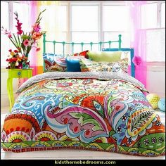 fun and funky - cute and colorful - chic and trendy decorating ideas - unique decor - girls bedroom decor - colorful decor - decorating with color - color inspiration decorating ideas - colorful bedrooms - colorful furniture - colorful bedding - Bedroom Themes, Bedroom Colors, Bedroom Decor, Bedroom Furniture, Bedroom Ideas, Home Bedroom, Girls Bedroom, Modern Bedroom, Funky Bedroom