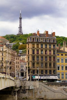 Lyon, France and the small eiffel tower