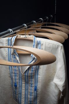 """Viktor Puzur. Cloth hangers """"Trempel"""" are made of recycled materials. Cardboard tubes are very good for manufacturing, often this lightweight material is used as a packaging product.  Trempel's main idea - is its ease of fabrication and replication of all used feedstocks."""