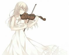 You lie in april. Girl playing violin