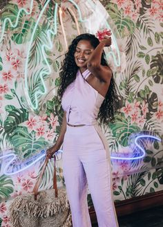 We can't help but feel the tropical vibe during the holiday season! 🌴🌺⠀ Some content we created at the awesome The Royale in Johannesburg for AYANDA THABETHE. Tropical Vibes, Jumpsuit, Content, Seasons, Digital, Awesome, Holiday, Photography, Dresses