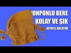 PONPONLU BEBEK BERESİ YAPILIŞI - Kolay ve Şık Bere Modelleri - YouTube