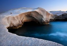 Sarakiniko Beach, a magic place created by some volcanic explosion in Milos, Kyklades, South Aegean_ Greece Moon On The Water, Sarakiniko Beach, Natural Swimming Pools, Beach Look, Greece Travel, Greek Islands, Natural Wonders, Scenery, Places To Visit