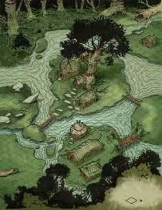 For more maps check out or for more awesome RPG related content! Fantasy Map Making, Fantasy City Map, Fantasy Town, Fantasy World Map, Fantasy Places, Fantasy Rpg, Forest Map, Isometric Map, Village Map