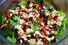 Salad - Spring Mix, Romaine, Strawberries, Cucumber, Pecans, Feta Cheese And Balsamic Dressing