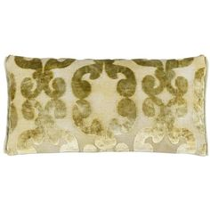 Designers Guild Iridato Cushion - 30x60cm - Acacia ($90) ❤ liked on Polyvore featuring home, home decor, throw pillows, yellow, yellow throw pillows, damask throw pillows, yellow home accessories, yellow toss pillows and yellow home decor