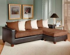 Chocolate Brown 2 Piece Living Room Sectional. San Marino    This is perfect to replace my two old granny couches!