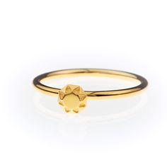 origami jewellery | Petite Bague diamant vermeil
