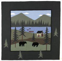 black bear quilt