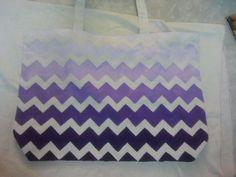 More DIY Tote Bags! :  wedding bridesmaids chevron diy ivory ombre purple silver tote white 2012 07 30 21.07.05