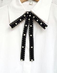 Ribbon Hair, Ribbon Bows, Grosgrain Ribbon, Drawing Tips, Black And White Fabric, Black White, White Bow Tie, Women Bow Tie, Tie Dye Outfits
