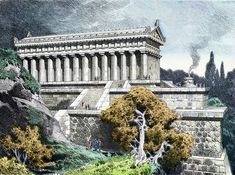 Temple Of ArtemisTemple of Artemis. 1886 German engraving by Frederick Knab of the Temple of Artemis at Ephesus. The Temple of Artemis, or Artemision, was one of the. Greek Culture, Ephesus, Seven Wonders, World Pictures, In Ancient Times, Jolie Photo, Ancient Architecture, Ancient Greece, Artemis
