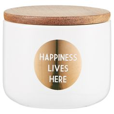 Lisa T Small Flat Ceramic Canister