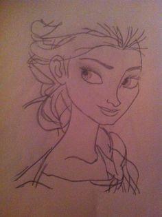 My drawing of Elsa!