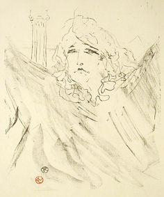 "Lithograph by Toulouse-Lautrec, Sarah Bernhardt in ""Cleopatra"". National Gallery of Art Fine Art Drawing, Art Drawings, Henri De Toulouse Lautrec, National Gallery Of Art, Classic Image, Poster Prints, Art Prints, Paris, Vintage Wall Art"