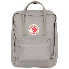 Fjall Raven Women 16l Kanken Nylon Backpack ($89) ❤ liked on Polyvore featuring bags, backpacks, accessories, light grey, detachable backpack, backpacks bags, nylon zip bag, rucksack bag and fjallraven rucksack