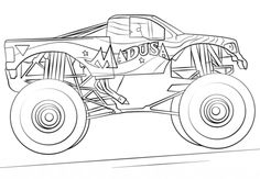 madusa monster truck coloring page from monster truck category select from 24104 printable crafts of
