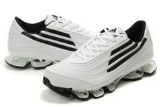 15cc1f856 Adidas Bounce Titan Leather Mens White Black Running Shoes adidas  megabounce Regular Price   180.00 Special