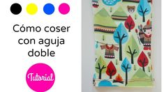 How to use a twin needle, hemming knit fabric. Cómo  coser con aguja doble  #knit #needle